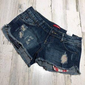 Bongo Jean shorts juniors size 3 Cut off americana